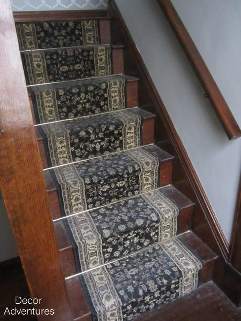 Old Carpet On Stairs
