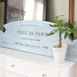 Make an Old Sign from a Footboard