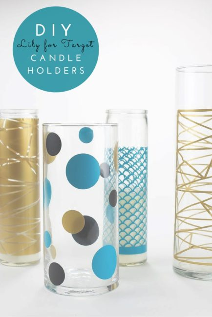 DIY Lily for Target Candle Holders