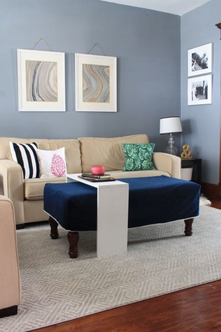 Living Room Makeover in Gotham Gray