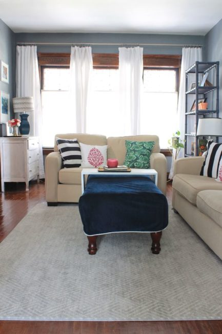 Living Room Makeover in Gotham Gray Paint » Decor Adventures