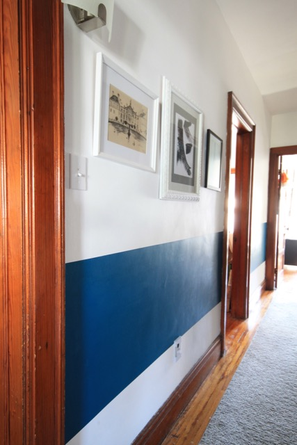 Wide Paint Stripe in Hallway