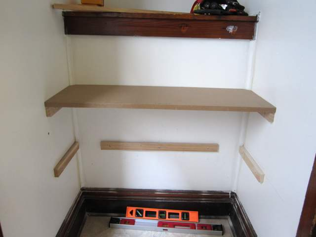 DIY Built In Shoe Shelves In A Small Entry Decor Adventures - Diy built in shelves