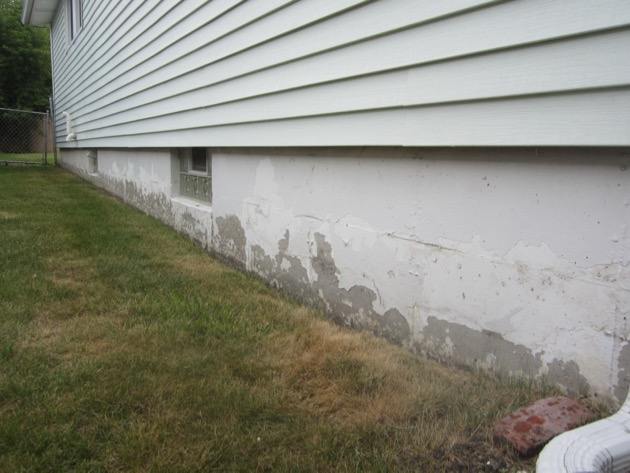 how to clean up lead paint chips outside