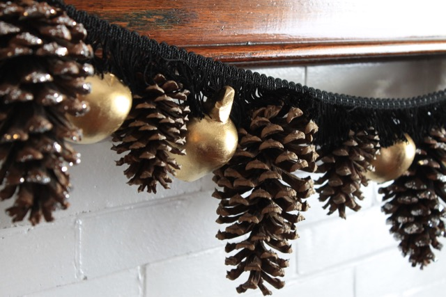 Fall Garland with Pine Cones