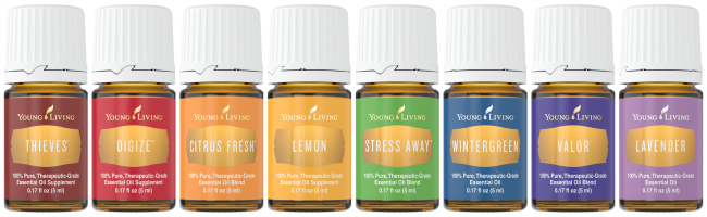Young Living Essential Oils Bottles