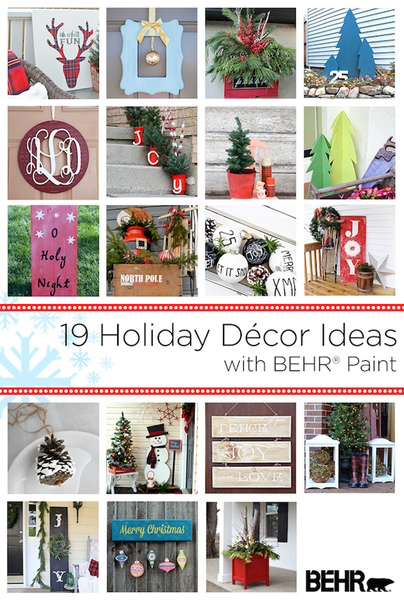 Behr Paint Holiday Blog Hop Outdoor Decor Ideas