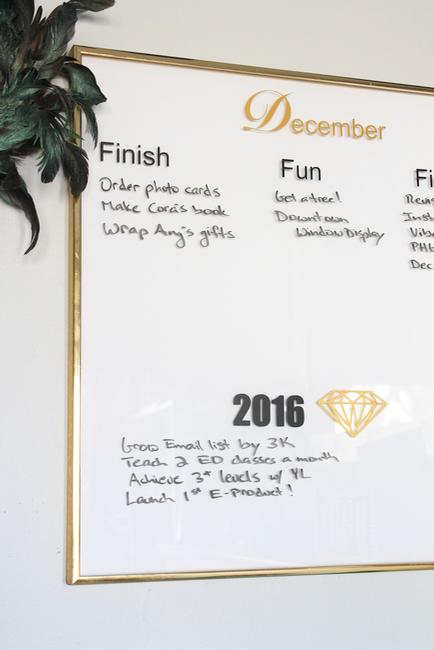 DIY Monthly Dry Erase Planner