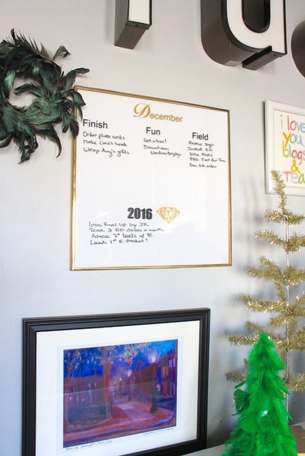 DIY Holiday Monthly Dry Erase Planner