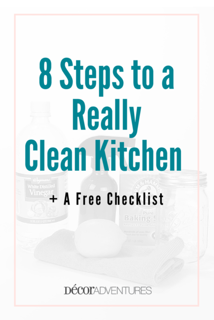 8 Steps to a Really Clean Kitchen