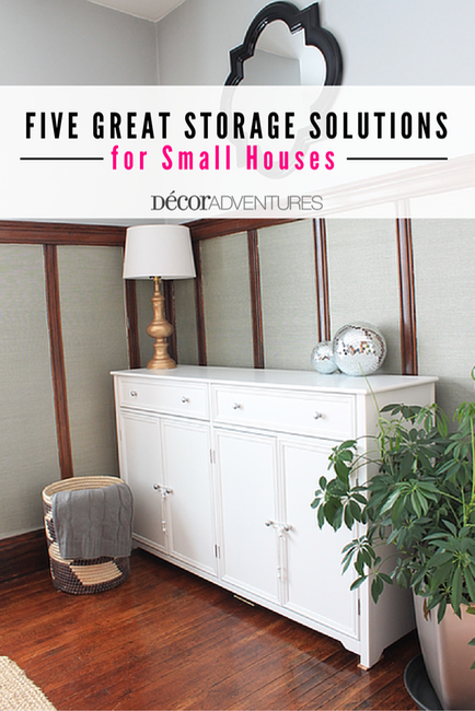 Five Great Storage Solutions for Small Houses