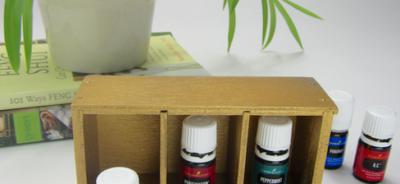 Essential Oil Storage Shelf Makeover