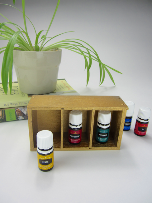 Essential Oil Storage Shelf Makeover