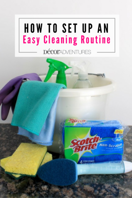 How to Set up an Easy Cleaning Routine