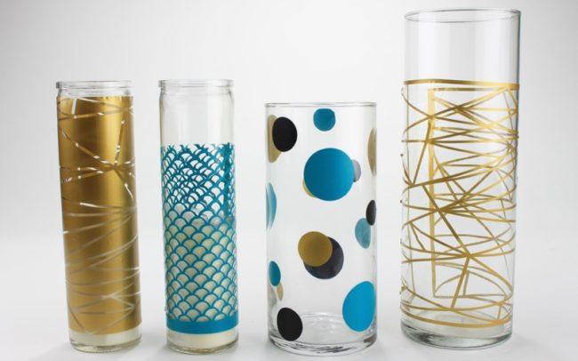 DIY Graphic Vases