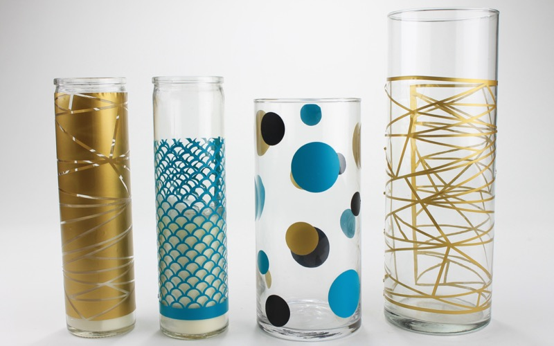 DIY Graphic Vases from a Cutting Machine