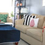 Living Room Makeover in Gotham Gray Paint