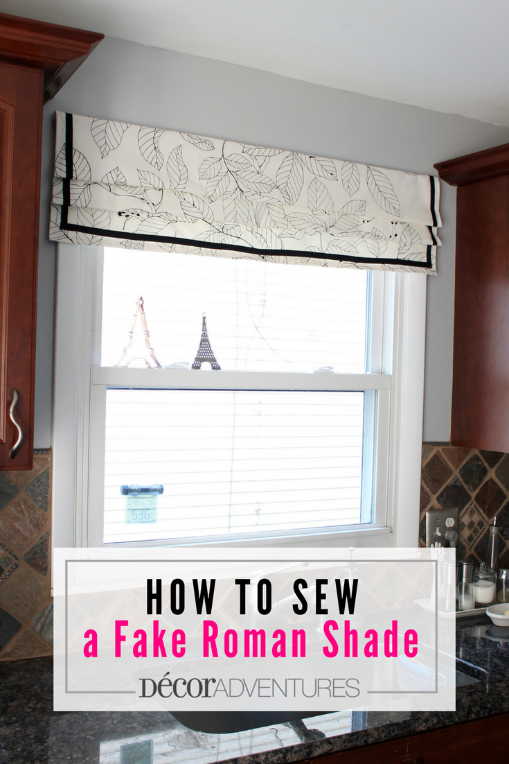 How To Sew A Roman Shade Easy Roman Shade Fake Roman