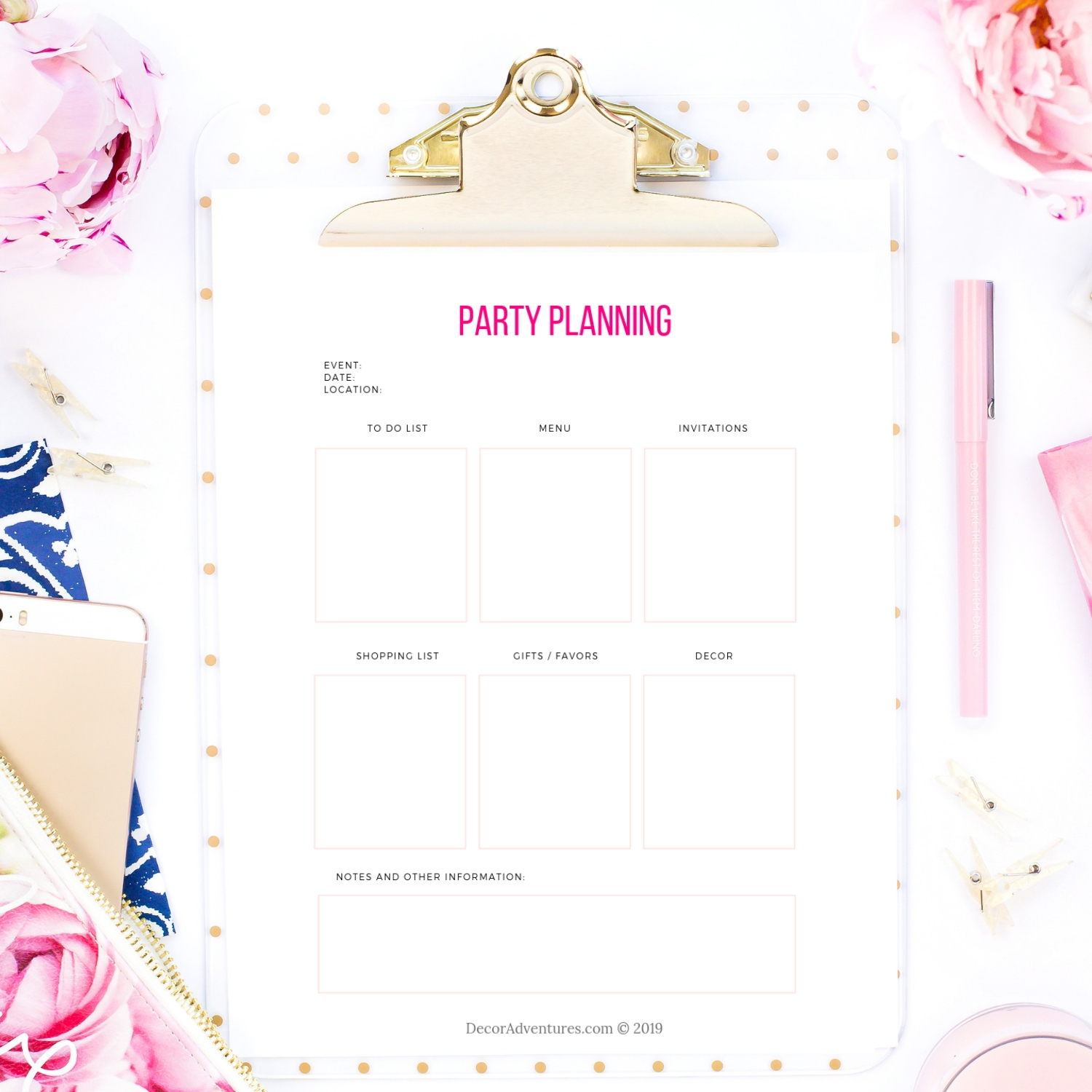 photograph relating to Printable Party Planning Checklist titled Get together Creating Listing Printable PDF