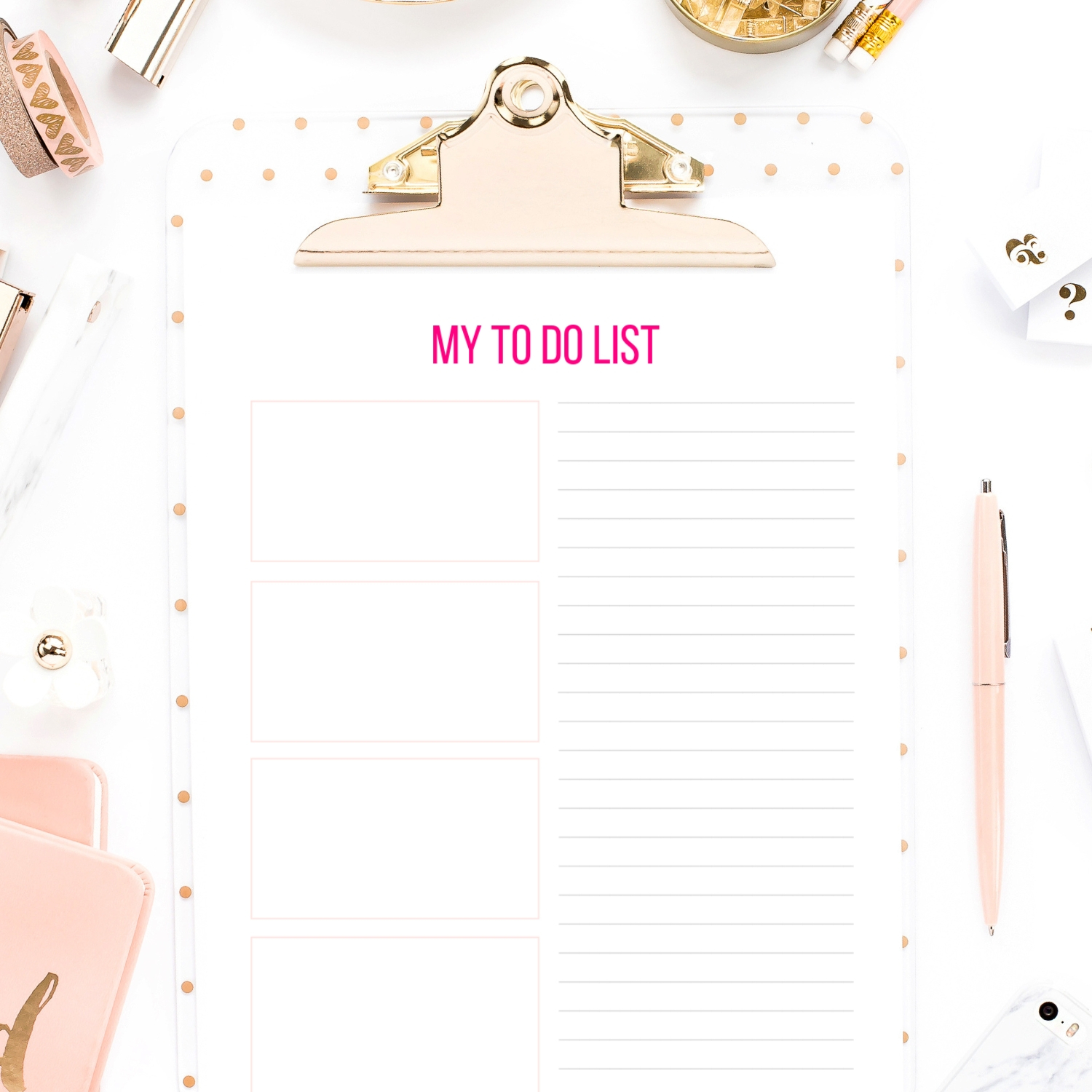 photo relating to Printable Lists named In direction of Do Checklist Printable PDF