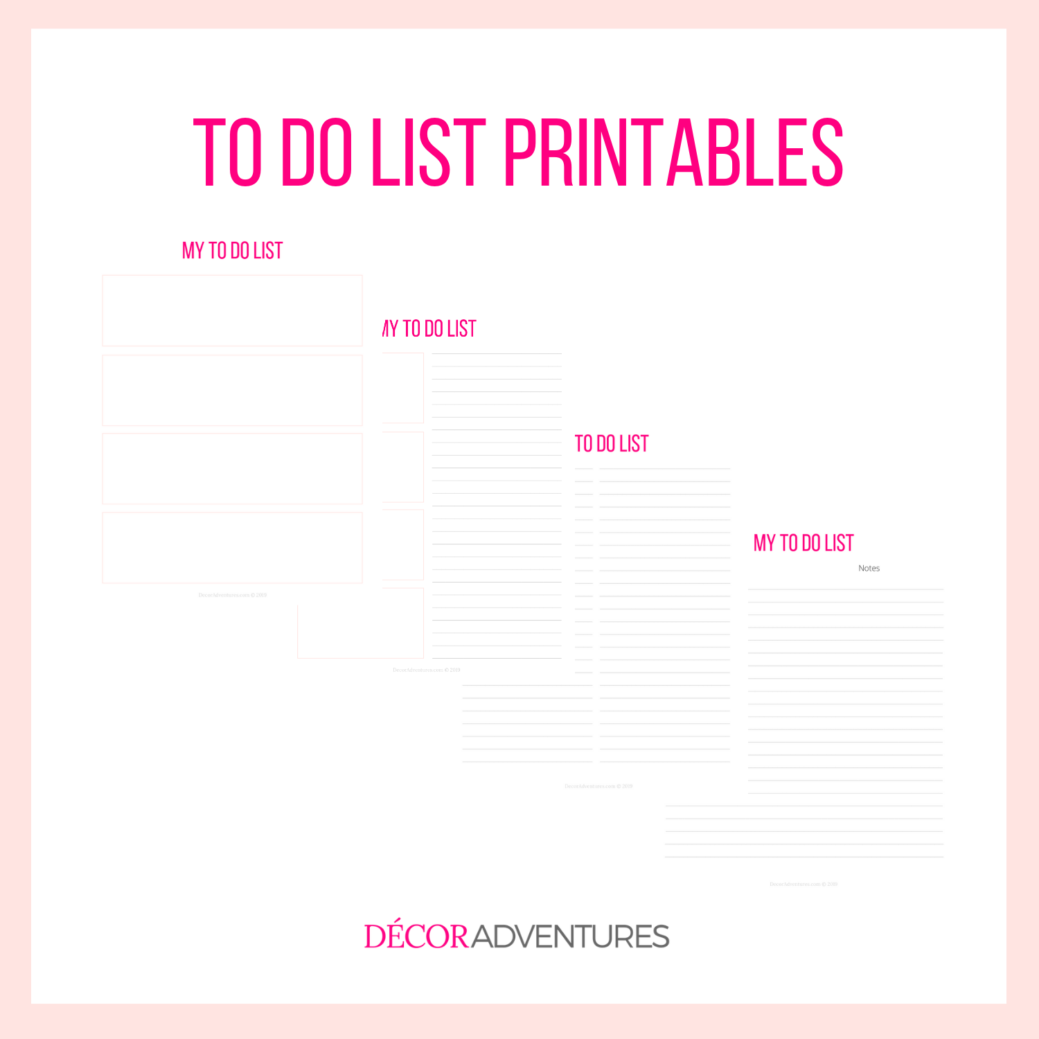graphic about To Do List Printables called In direction of Do Record Printable PDF